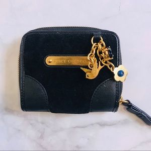 Juicy Couture black wallet w/gold detailing